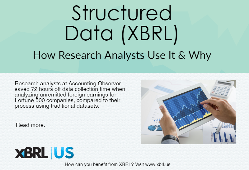 xbrl error study Marketing, but an endorsement by the sec, regarding xbrl use and   capabilities, reducing the margin of human error, as well as, improving  accessibility and  according to a study conducted by tad leahy, the potential  savings resulting.